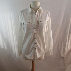 Banana Republic White Cotton Shirt NWT